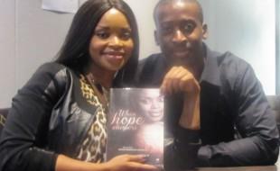 Zoleka Mandela and her partner, Thierry Bashala