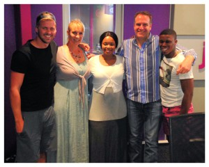 Zoleka Mandela and The Complimentary Breakfast Team.