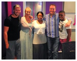 Zoleka Mandela and The Complimentary Breakfast Team.